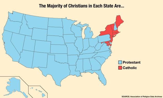 Billedresultat for protestant states in usa 2016